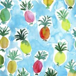 Ткань PINEAPPLE BLUE Quilting Treasures