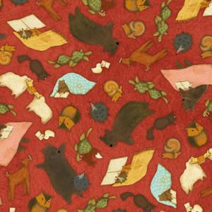 Ткань Animal Toss Red Quilting Treasures