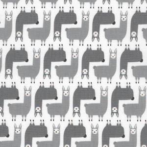 Ткань Mini Llamas Grey, Robert Kaufman