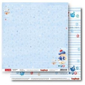 Двусторонняя бумага 30 * 30 ЗайкаМи Малыши По морям, по волнам от ScrapBerry's