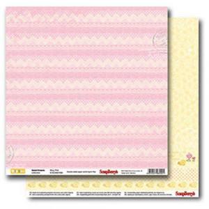 Двусторонняя бумага 30,5 *30,5 см Веселое детство Розовые сны от ScrapBerry's
