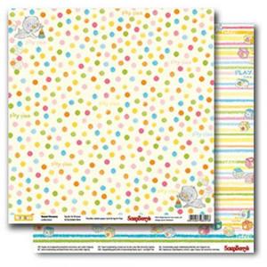 Двусторонняя бумага 30,5 *30,5 см Веселое детство Горошек и полоска от ScrapBerry's
