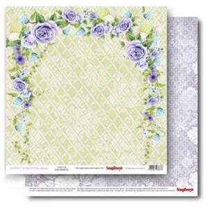 Двухстороняя бумага размером 30,5*30,5 см Счастливый День Цветущий сад от Scrapberrys