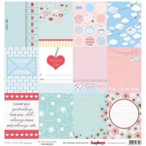 Одностороняя бумага 30,5 *30,5 см Про Любовь Любовь повсюду от ScrapBerry's