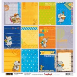 Одностороняя бумага 30 * 30 Новые приключения Басика Карточки 2  от ScrapBerry's