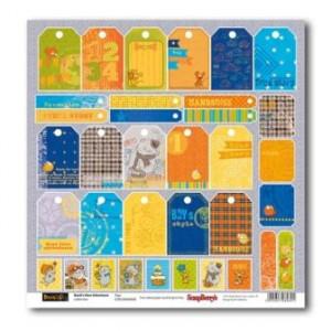 Одностороняя бумага 30 * 30 Новые приключения Басика Карточки от ScrapBerry's