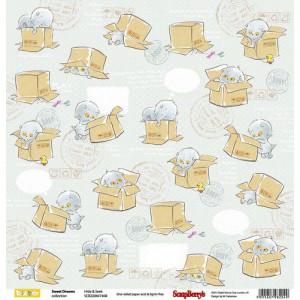 Одностороняя бумага 30,5 *30,5 см Веселое детство Игра в прятки от ScrapBerry's