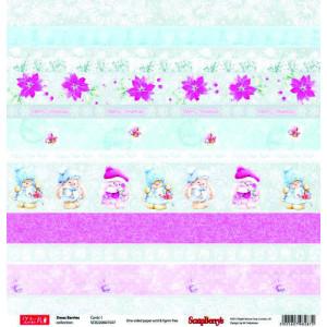 Одностороняя бумага 30,5 *30,5 см Зимняя ягодка Карточки 1 от ScrapBerry's