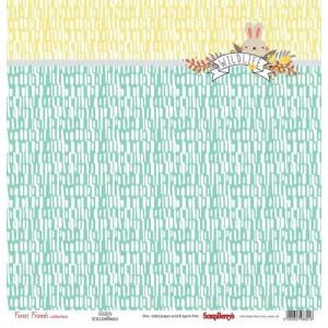 Одностороняя бумага 30 * 30 Лес Чудес Пушистый друг от ScrapBerry's