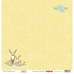 Одностороняя бумага 30 * 30 Лес Чудес Солнечный день от ScrapBerry's