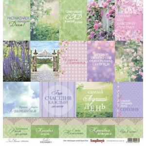 Односторонняя бумага размером 30,5х30,5 см Цветущий Сад Карточки 1 от Scrapberrys