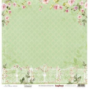 Односторонняя бумага размером 30,5х30,5 см Цветущий Сад Розовый вьюн от Scrapberrys