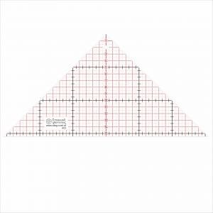 Треугольная линейка с прямым углом