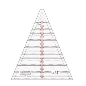 Треугольная линейка с углом 45 градусов