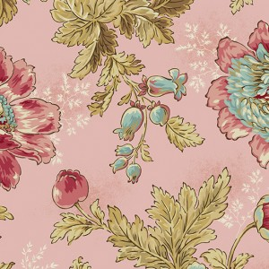 Ткань Super Bloom Tuberose Makower UK