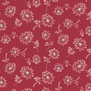Ткань Super Bloom Dandelion Ruby Makower UK