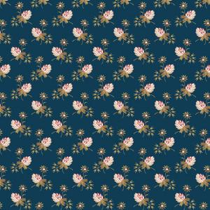 Ткань Super Bloom Clover Dusk Makower UK