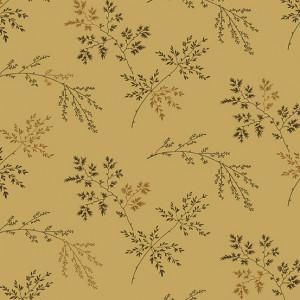 Ткань Super Bloom Twigs Dark Khaki Makower UK