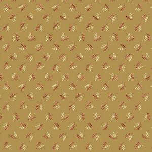 Ткань Super Bloom Hops Dark Khaki Makower UK