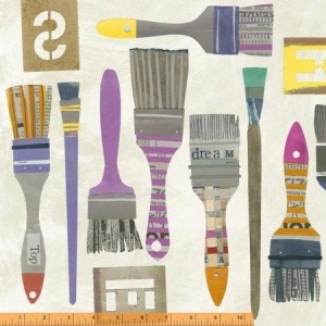 Ткань Brushes Paint, Windham Fabrics