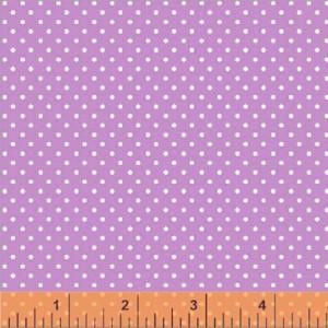 Ткань 33579-4 Горошек Сиреневый из коллекции  Two by Two от Windham Fabrics