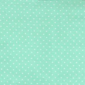Ткань CX5514 SEAF D Горошек на мятном от Michael Miller