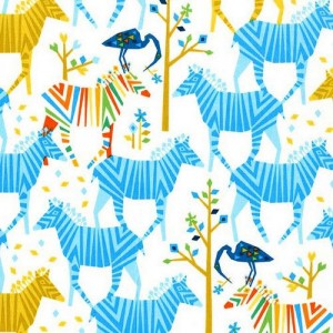 Ткань Origami Oasis Show Your Colors in Blue by Michael Miller Fabrics