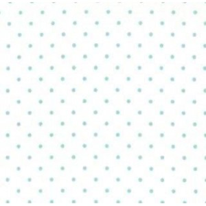 Ткань Essential Dots - White with Teal Dots 8654 65 от Moda Fabrics