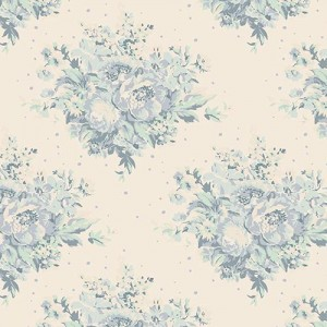 Tilda Summer Floral Blue on White