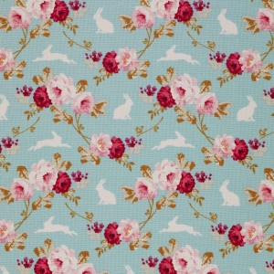 Tilda Rabbit and Roses Teal