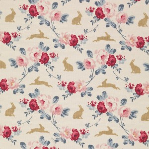 Tilda Rabbit and Roses Slate Blue