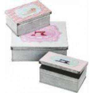 Набор жестяных коробочек Tilda, набор 3 шт