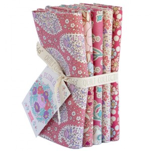 Tilda PlumGarden Fat Quarter Bundle Peach