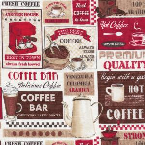 Ткань Coffee Bar Timeless Treasures