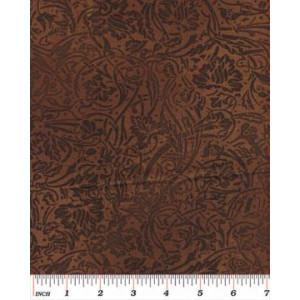 Ткань 5286 Темный Coffee Scroll  из коллекции Cafe au Lait от Kanvas