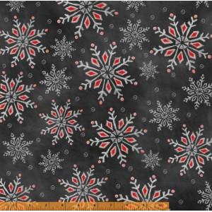 Ткань Holiday Snowflakes Chalkboard Christmas, Windham Fabrics