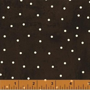 "Ткань 35525-3 Горох на шоколадном  из коллекции ""Love at first bite"" от Windham Fabrics"