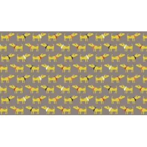 """Ткань Bandana Dogs из коллекции  """"Patch"""" от Makower"""
