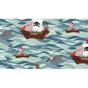 Ткань Pirates Ships, Makower