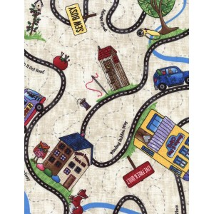 Ткань Road Trip Map Home Sweet Home, Timeless Treasures