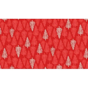 Ткань Trees Red Scandi 2, Makower
