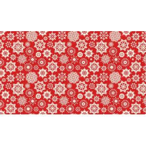 Ткань Snowflake Red Scandi 2, Makower