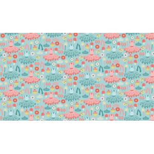 """Ткань Платья из коллекции """"Tutu"""" от Makower"""