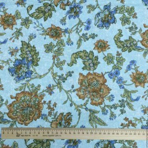 """Ткань Голубой из коллекции """"Wonderful Garden"""""""