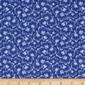 Ткань Bluebell Leaves Windham Fabrics
