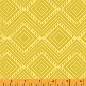 Ткань Stand Tall Diamond Geo Yellow, Windham Fabrics